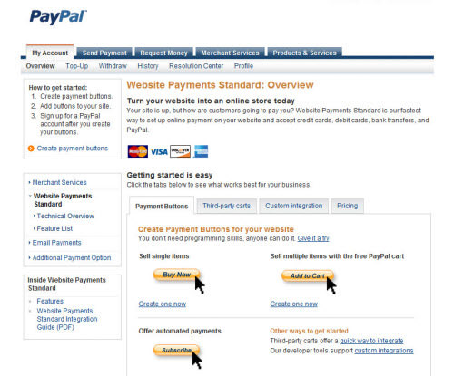 PayPal Website Payments Standard