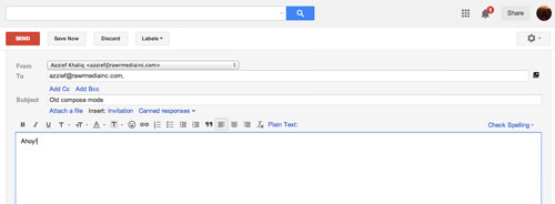 Old Gmail Compose