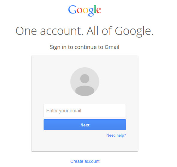 fake gmail account