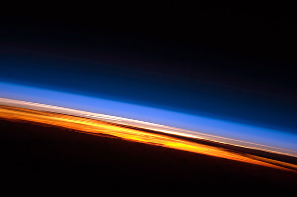 sunset from the ISS