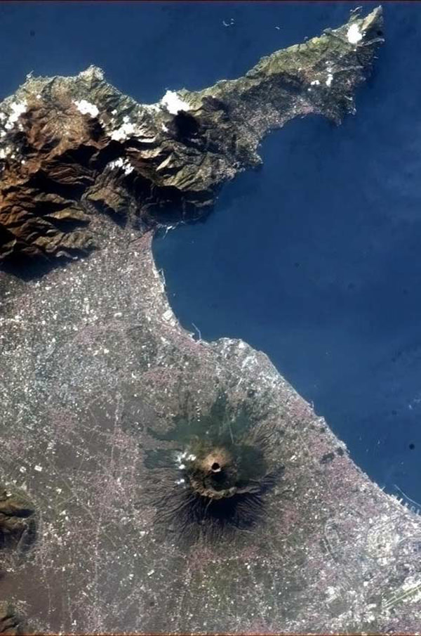 Mt Vesuvius from space