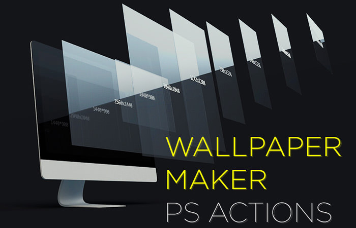 photoshop action wallpaper maker