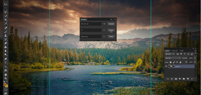 Griddify photoshop plugin