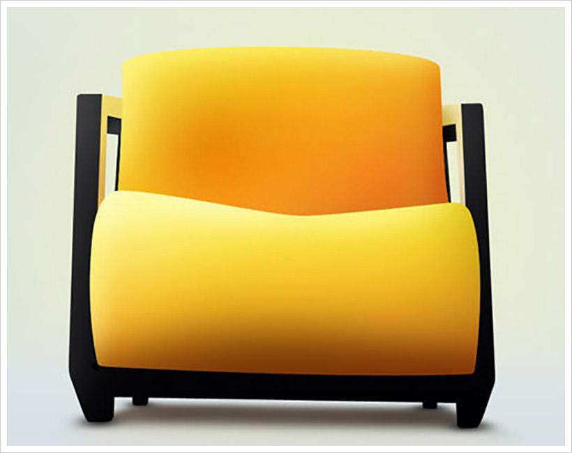 orange-chair-PSD
