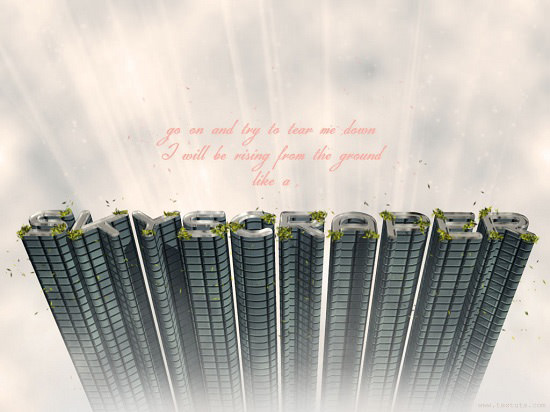 3d skyscrapper text effect