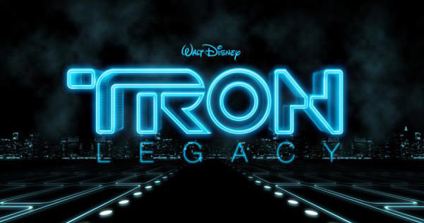 tron legacy text effect
