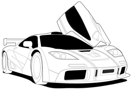 Drawing a Car Lineart