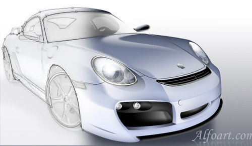 porsche digital rendering