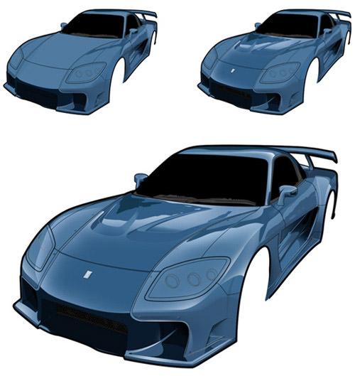 rx7 vector