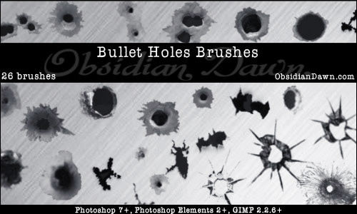 Bullet Holes Brushes