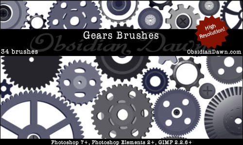 gear vector brushes
