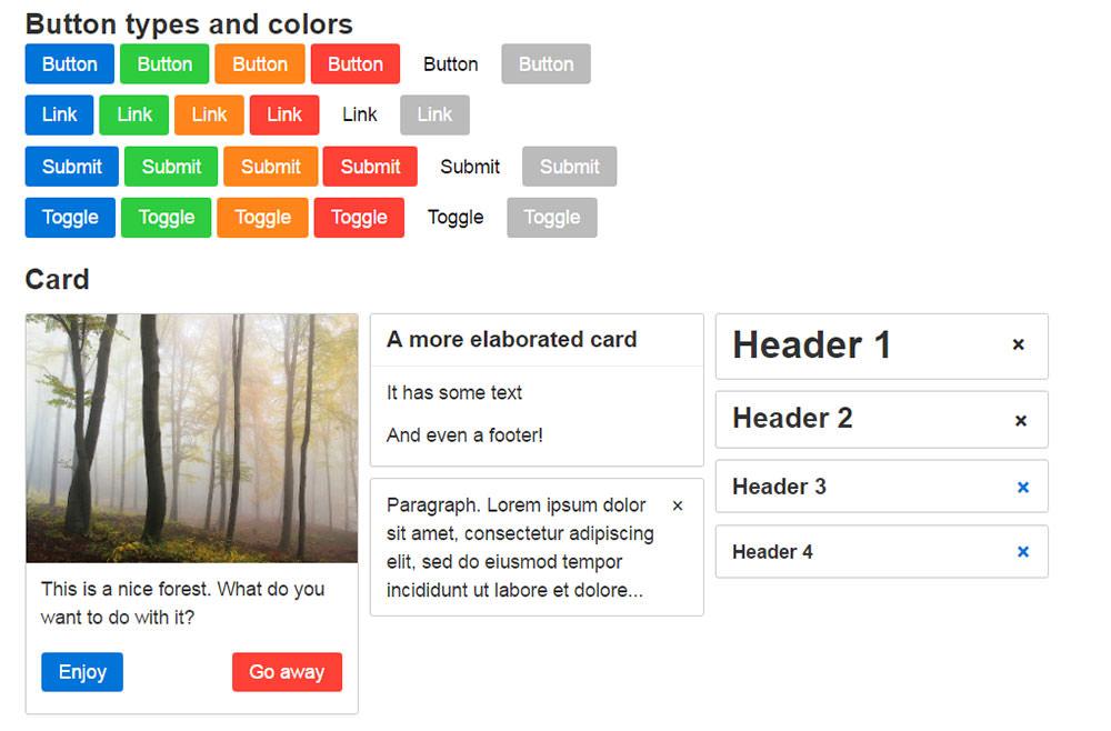 Picnic CSS code