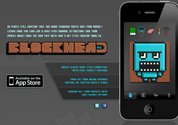 iOS App Store BlockHead Pix website