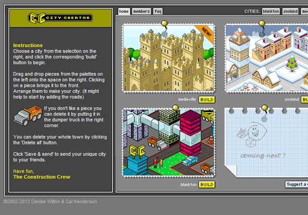 isometric web app pixel city creator