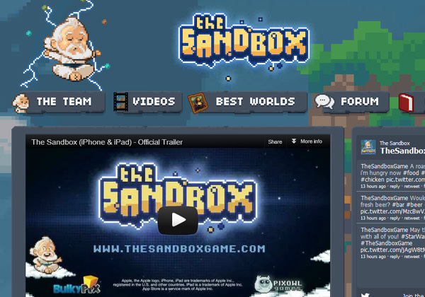 The Sandbox mobile video game smartphone app