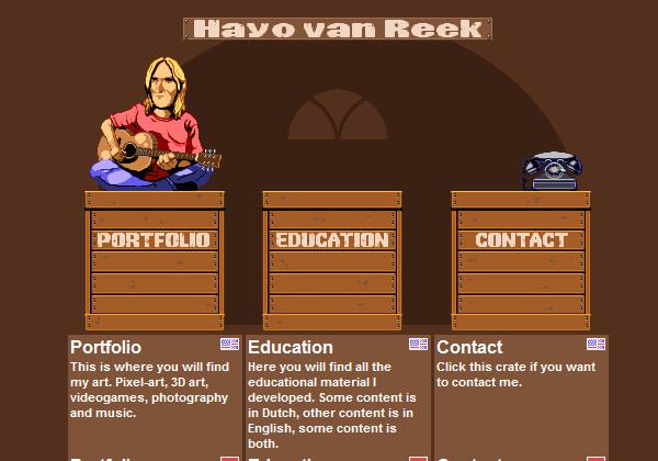 Hayo Van Reek pixel website portfolio