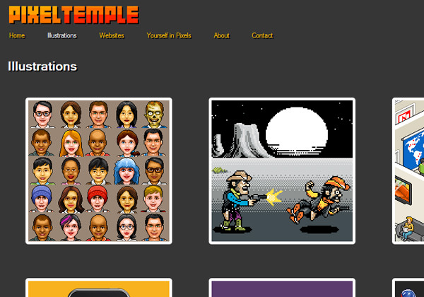 PixelTemple portfolio artwork design studio