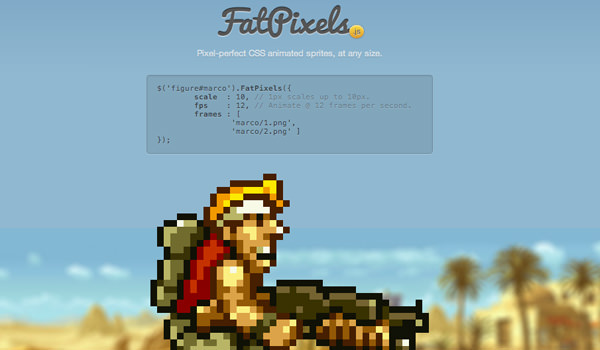 FatPixels CSS3/jQuery animated sprites