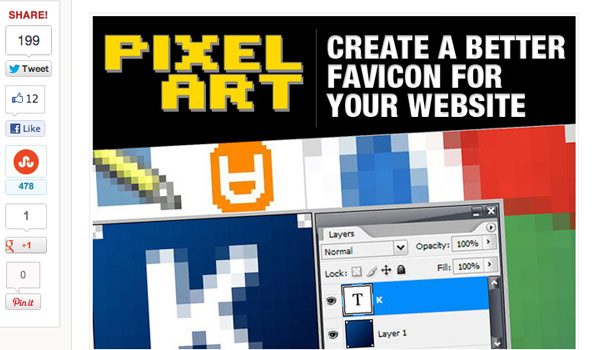 tutorial for creating a better website favicon