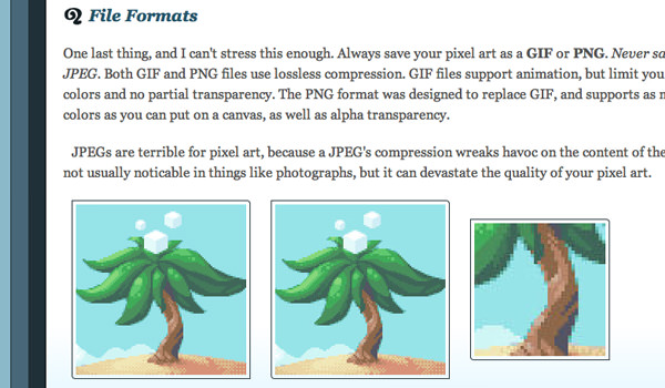 Purloux pixel website art tutorials and basic how-to