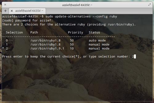 Choosing Ruby Version