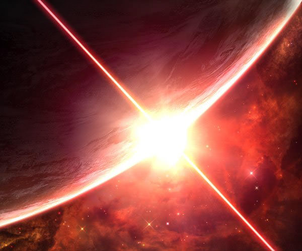 Earth with Hot Star Absolutely Stunning Space and Planets Wallpapers