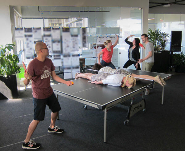 ping pong face-down
