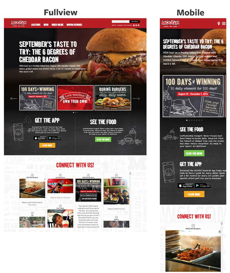 Mooyah Responsive Home Page