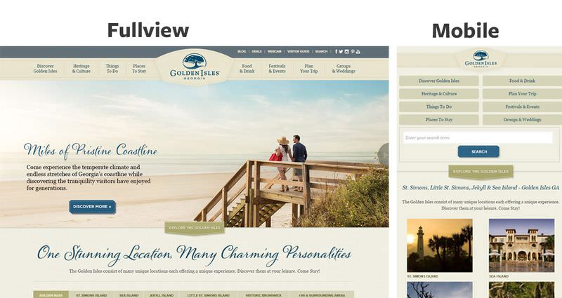 Golden Isles Responsive Layout