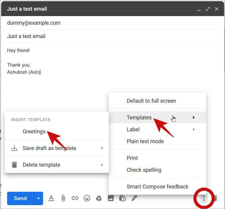 Make use of Email Templates in Gmail