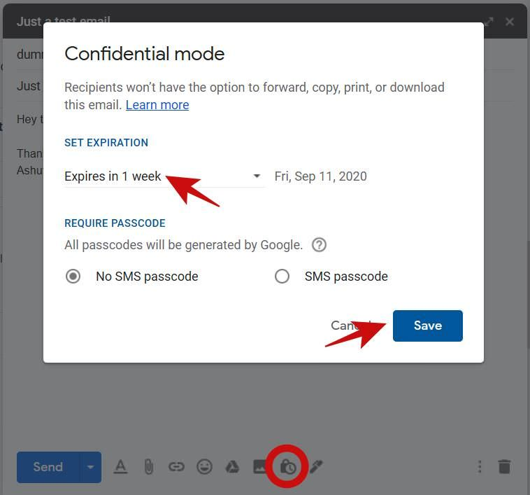 Using the Confidential Mode in Gmail