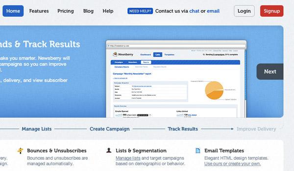 4th Slide Panel in Newsberry Demo - App Screenshot