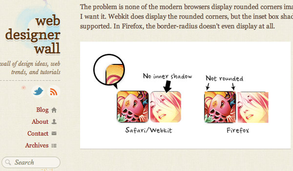 Web Designer Wall CSS3 Tutorial Demo image