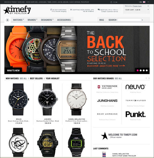 30 Professional Looking e-Commerce Web Designs - Hongkiat