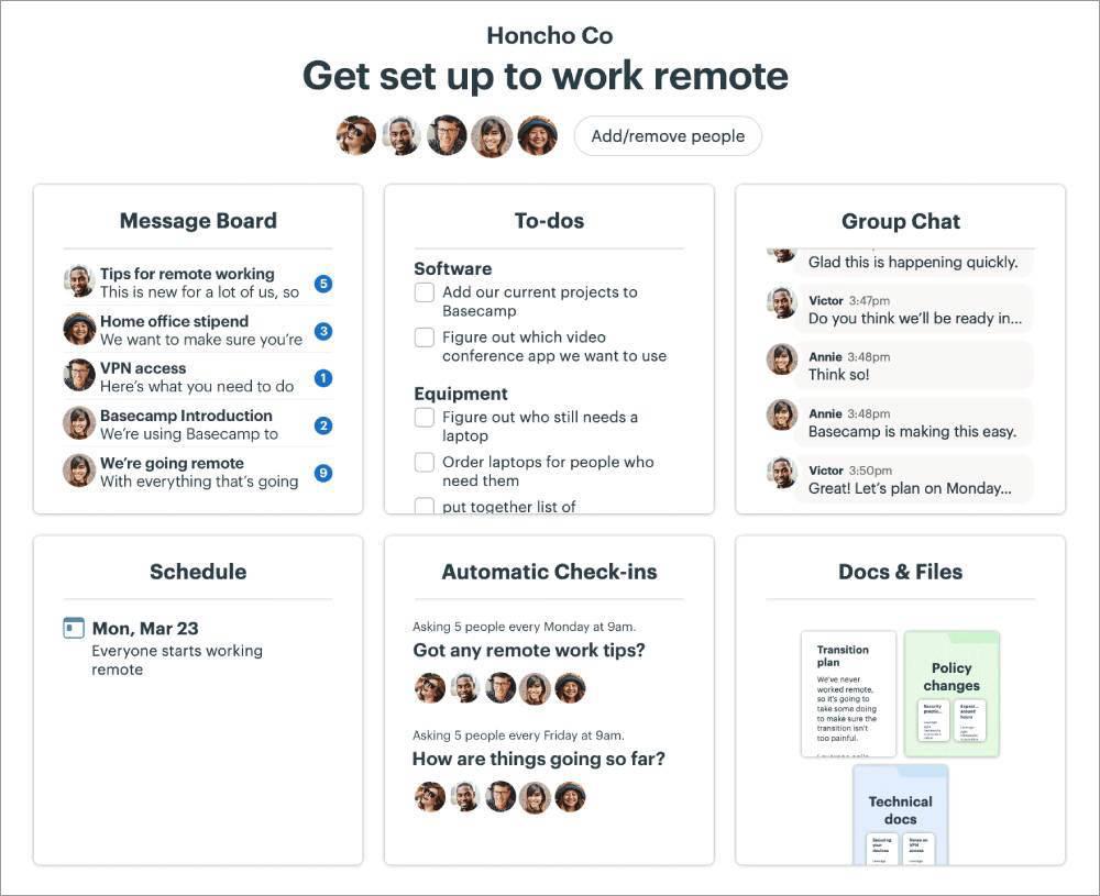 project management tool Basecamp