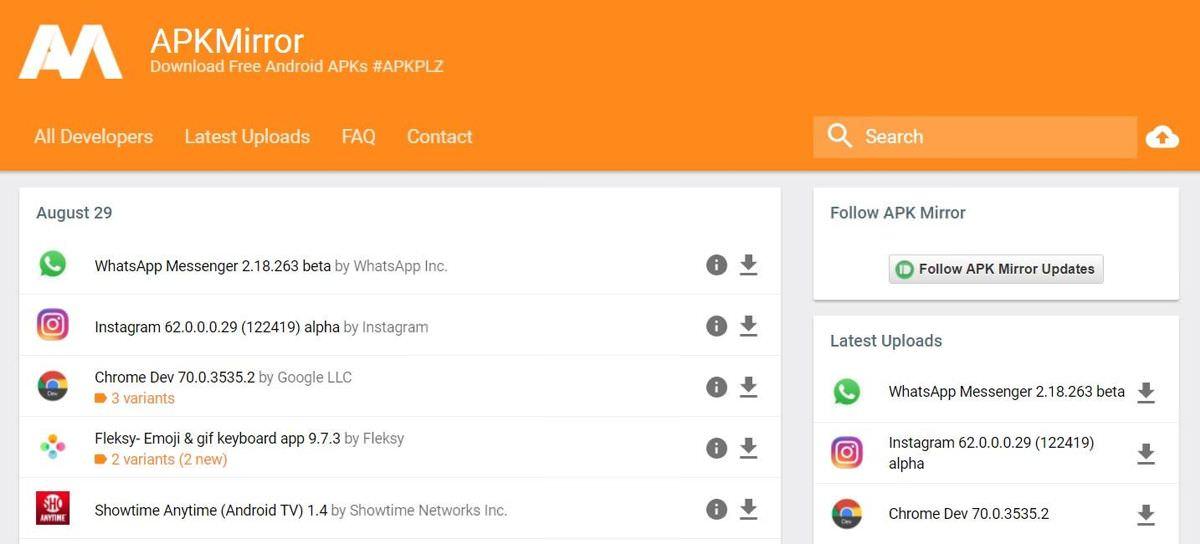 APKMirror offers secure APKs