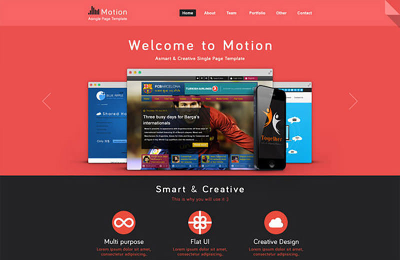 Motion Single Page