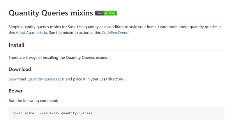 Quantity query mixins
