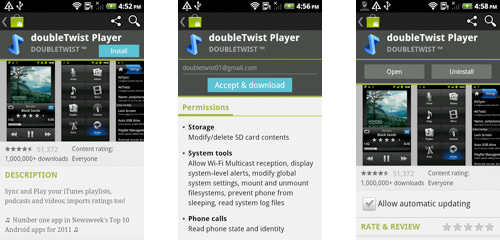 DoubleTwist on Android