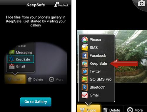 Share with KeepSafe
