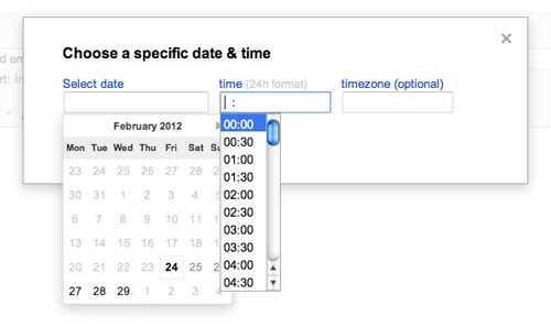 Specific time