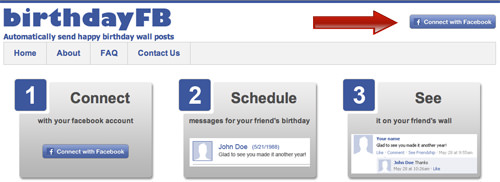 BirthdayFB Connect Facebook