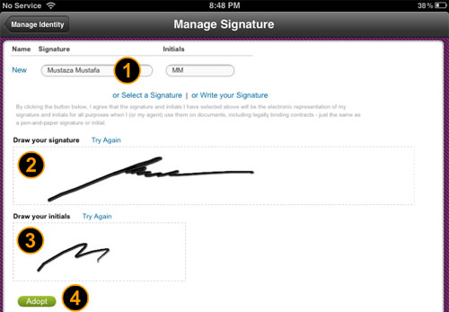 how to write your signature