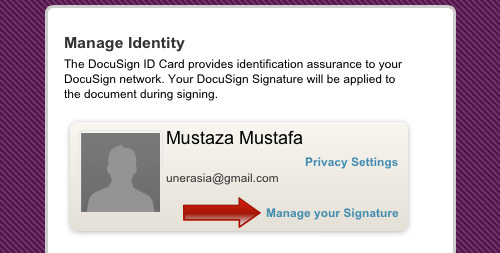 manage signature