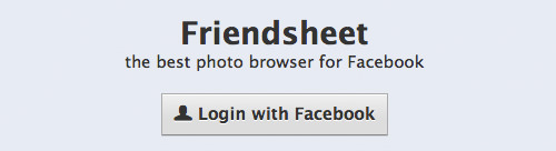 Friendsheet-login