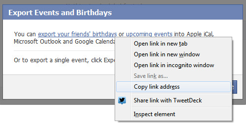 Facebook Birthday Calendar Step 3