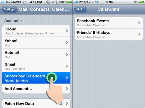 Facebook Birthday Calendar iPhone Result 1