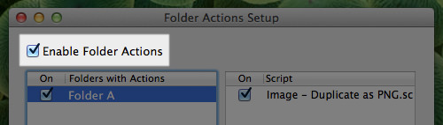 Enable Action Scripts