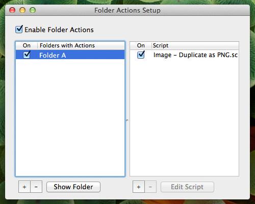 Action script list