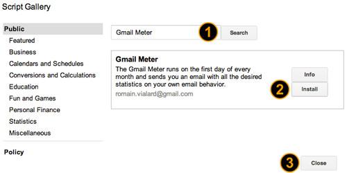Gmail Meter Script